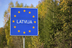 Latvia sign Royalty Free Stock Image