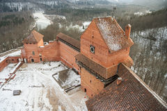 Latvia - Sigulda - Towers and walls of Turaida castle and Gauja Stock Photo