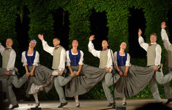 Latvian amusing dance Stock Images