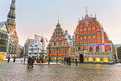 Latvian attractions in the center of Old Riga Royalty Free Stock Photo