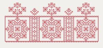 Latvian/Bałtycki etnograficzny wzór Obraz Royalty Free