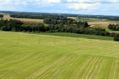 Latvian country landscape. Aerial view of latvian forests royalty free stock photography