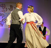 Latvian Couple Dancing Stock Photos