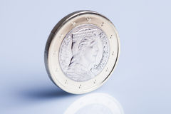 Latvian euro coin. Royalty Free Stock Photo