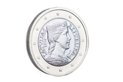 Latvian euro coin. Stock Image