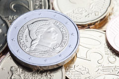 Latvian euro coins. Stock Photo