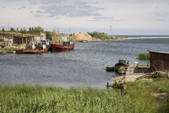 Latvian Fishing Village Stock Images