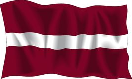 Latvian flag Royalty Free Stock Photography