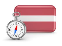 Latvian flag. Stock Photo