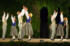 Latvian folk dance performance Royalty Free Stock Photo