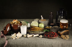 Latvian Food Stock Photo