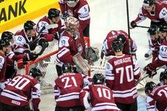 Latvian ice hockey team Royalty Free Stock Photos