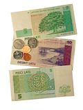Latvian money Royalty Free Stock Photography
