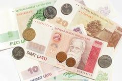 Latvian money Royalty Free Stock Photos