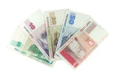 Latvian money - lats Royalty Free Stock Photo