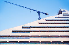 Latvian National Library construction Royalty Free Stock Photography