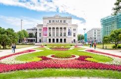 Latvian national opera and ballet theater. Stock Photo
