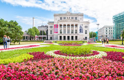 Latvian national opera and ballet theater. Royalty Free Stock Images