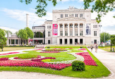 Latvian national opera and ballet theater. Royalty Free Stock Photos