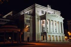 Latvian National Opera. At night; Riga; Latvia Royalty Free Stock Photos