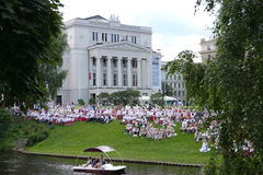 Latvian National Song and Dance Festival Royalty Free Stock Photos