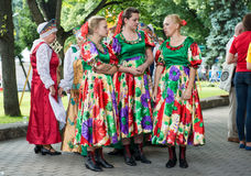 Latvian National Song and Dance Festival. RIGA, LATVIA - JULY 03:  Women in national costumes at the Latvian National Song and Dance Festival on July 03, 2013 Royalty Free Stock Photography