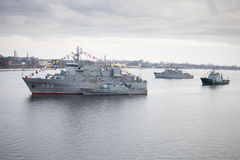 Latvian Naval Forces ships Stock Photo