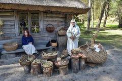 Latvian Open-Air Ethnographic Museum in Riga Stock Photos