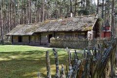 Latvian Open-Air Ethnographic Museum in Riga Stock Photo