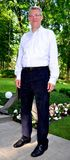 Latvian President Valdis Zatlers at his farewell m Royalty Free Stock Photography