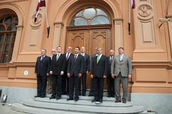 Latvian Prime Ministers Royalty Free Stock Photo