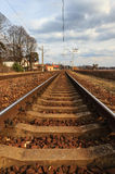 Latvian Railway Track. Stock Image