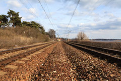 Latvian Railway Track. Stock Image