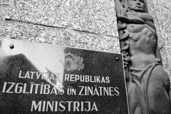 Latvian republiki nauka i ministerstwo edukacji Zdjęcia Stock