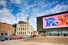 The Latvian Riflemen Square in Riga Royalty Free Stock Images