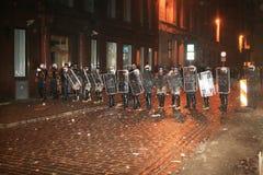Latvian riot Stock Photos