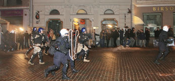 Latvian riot Stock Images