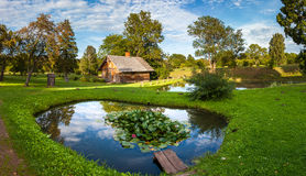 Latvian rural landscape. Latvian summer rural ethnic landscape Royalty Free Stock Image