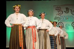 Latvian Women Dancers Stock Photo