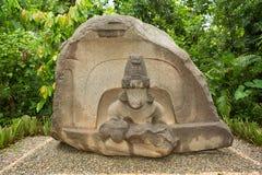 Latynosa olmec kamienia ołtarz w Meksyk fotografia royalty free