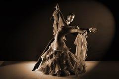 Latynoscy tancerze w sala balowej Obraz Stock