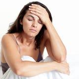 Latynoska kobieta z migreną zdjęcia royalty free