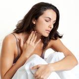 Latynoska kobieta z migreną obrazy royalty free
