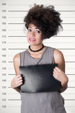 Latynoski brunetka buntownika model z afro lubi włosy Fotografia Royalty Free