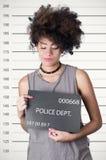 Latynoski brunetka buntownika modela afro lubi włosy Fotografia Royalty Free