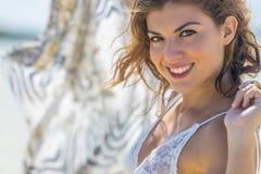 Latynoski brunetka model Fotografia Royalty Free
