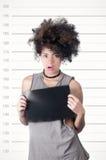 Latynoski brunetka model z afro lubi włosy Zdjęcie Royalty Free
