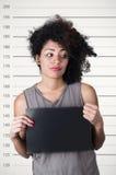 Latynoski brunetka model z afro lubi włosy Zdjęcie Stock