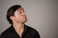 Latynoski samiec pouting Fotografia Stock