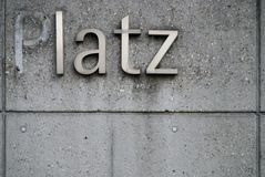 Latz. Stolen letter from the german word platz Stock Photos